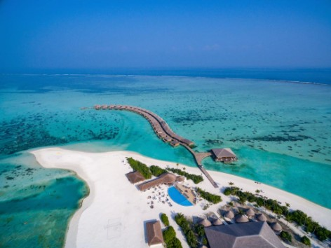 vista aerea del Resort Cocoon maldives